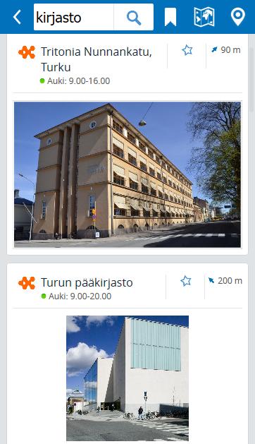 Lähin kirjasto ja aukioloajat löytyvät nyt Tässä.fi:stä